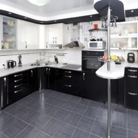 кухонный гарнитур с барной стойкой фото виды