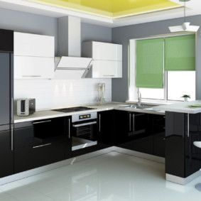 кухонный гарнитур с барной стойкой идеи