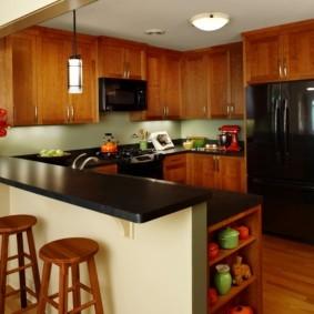 кухонный гарнитур с барной стойкой идеи фото