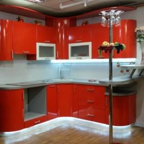 кухонный гарнитур с барной стойкой идеи интерьера