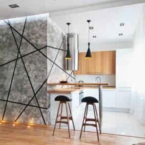 кухонный гарнитур с барной стойкой идеи оформление