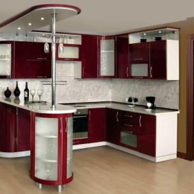 кухонный гарнитур с барной стойкой идеи варианты