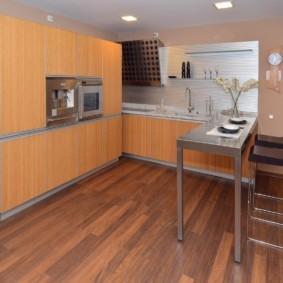 кухонный гарнитур с барной стойкой идеи виды