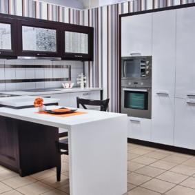 кухонный гарнитур с барной стойкой варианты фото