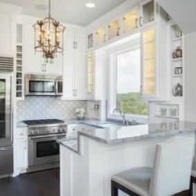 кухонный гарнитур с барной стойкой варианты идеи