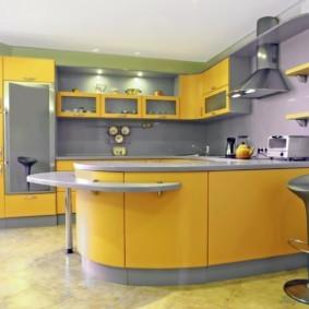 кухонный гарнитур с барной стойкой виды фото