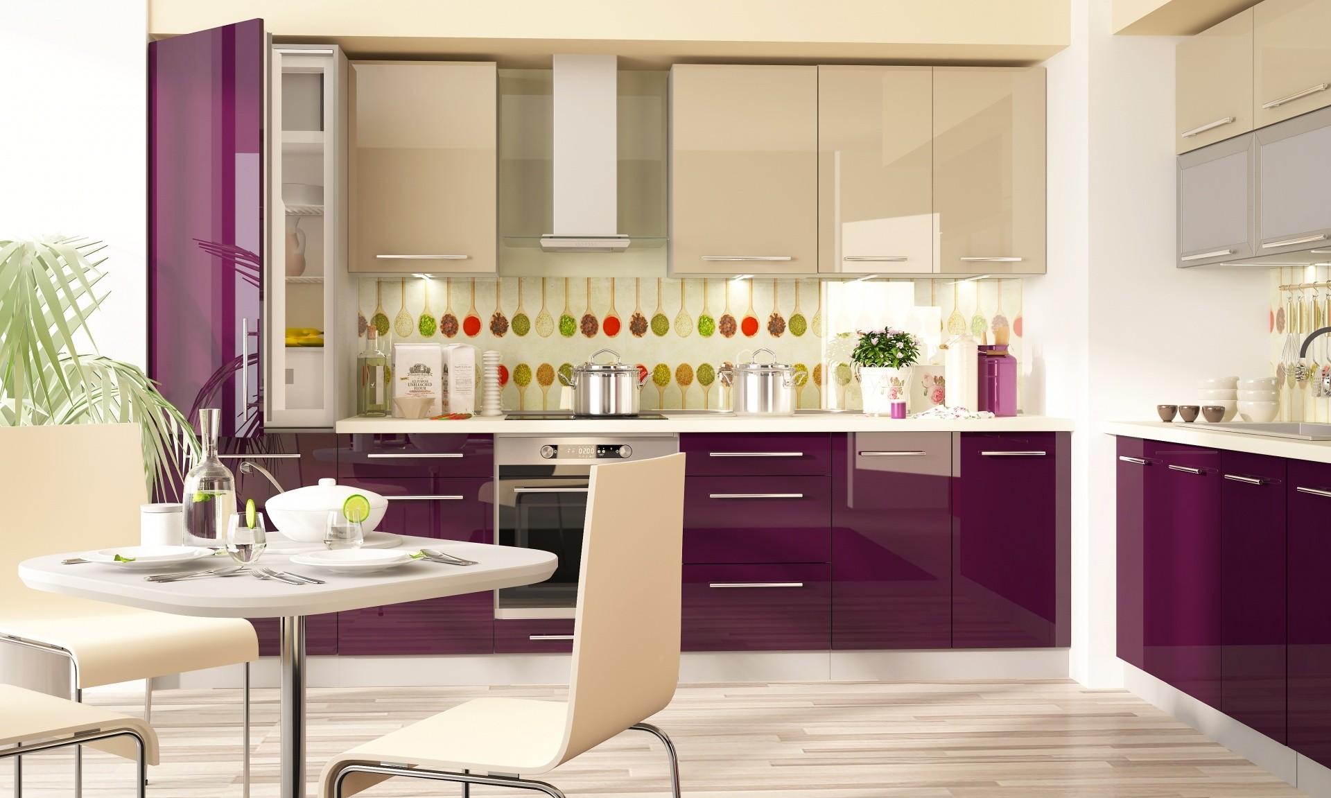 кухонный гарнитур в цвете ваниль и крем-брюле дизайн идеи