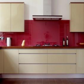 кухонный гарнитур в цвете ваниль и крем-брюле фото варианты