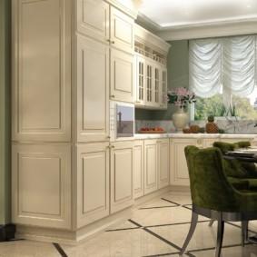 кухонный гарнитур в цвете ваниль и крем-брюле идеи декора