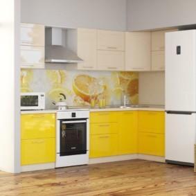 кухонный гарнитур в цвете ваниль и крем-брюле идеи вариантов