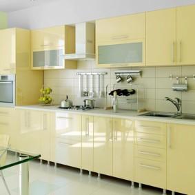 кухонный гарнитур в цвете ваниль и крем-брюле идеи варианты