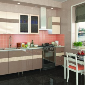 кухонный гарнитур в цвете ваниль и крем-брюле идеи виды