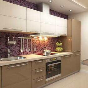 кухонный гарнитур в цвете ваниль и крем-брюле варианты идеи