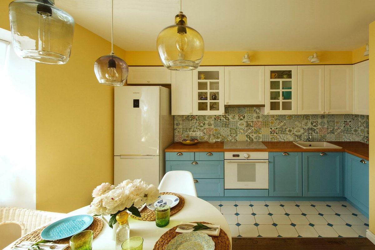 вижу покраска кухни краской варианты фото цвет лимонный эти темы