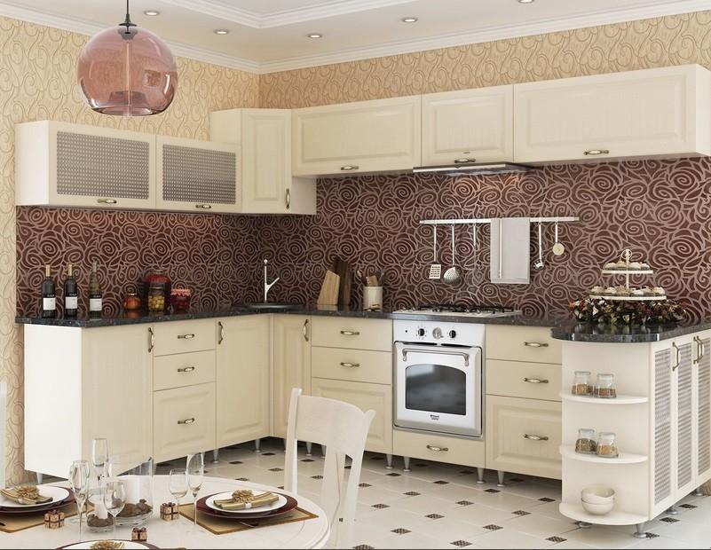 кухонный гарнитур в цвете ваниль и крем-брюле виды идеи