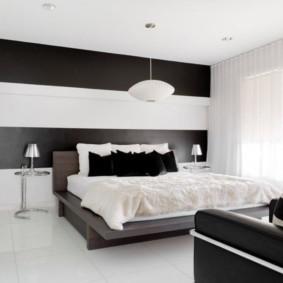 черно белая квартира декор фото