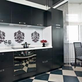 черно белая квартира дизайн