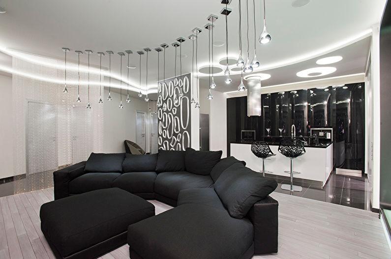 черно белая квартира дизайн идеи