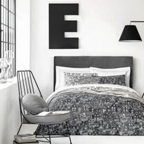 черно белая квартира фото дизайн