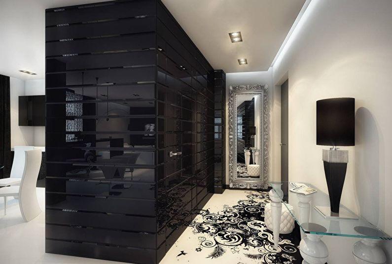 черно белая квартира фото интерьера