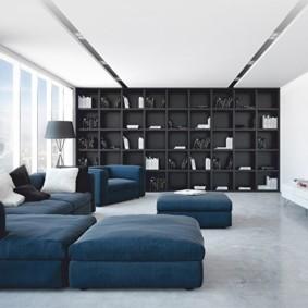 черно белая квартира идеи декор