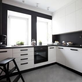 черно белая квартира идеи интерьер