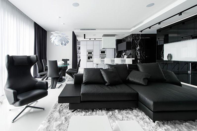 черно белая квартира идеи интерьера