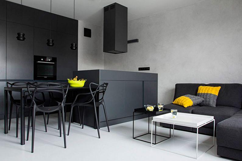 черно белая квартира виды дизайна