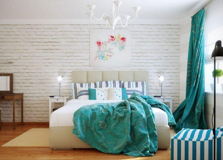однокомнатная квартира с кроватью и диваном идеи дизайна