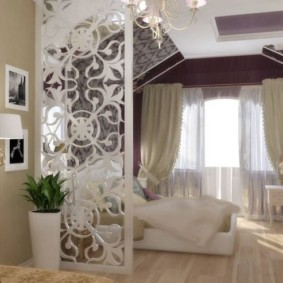 однокомнатная квартира с кроватью и диваном интерьер