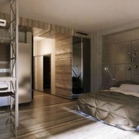 однокомнатная квартира с кроватью и диваном виды фото