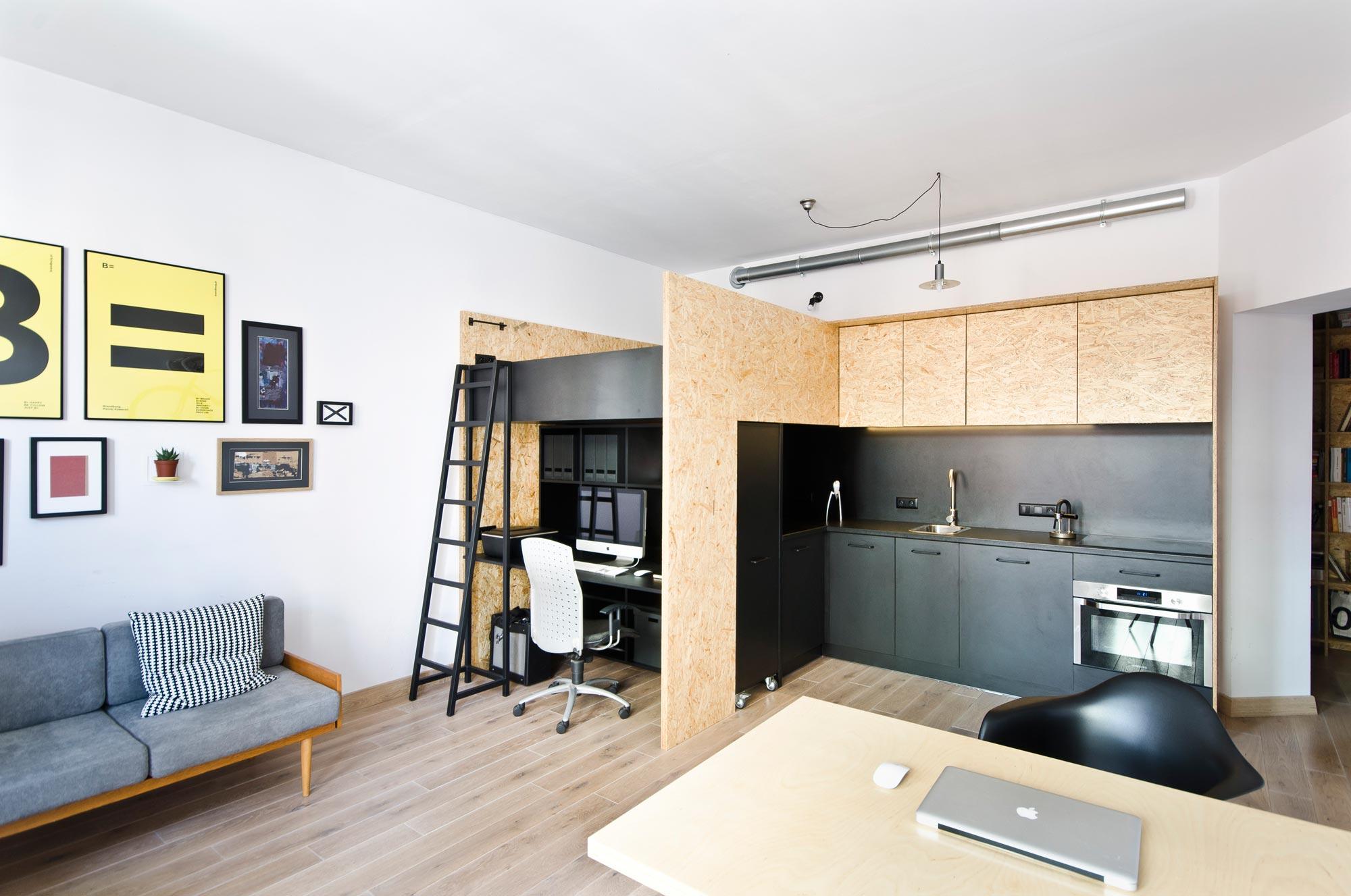 квартира студия 23 кв метра идеи интерьер