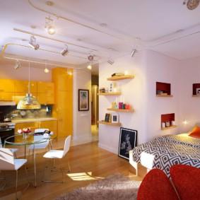 квартира студия 23 кв метра виды дизайна