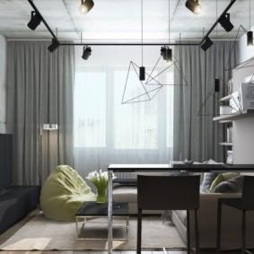квартира студия 23 кв метра декор идеи