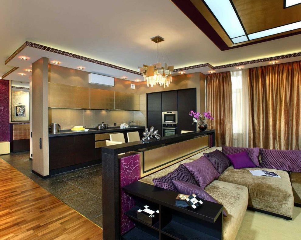Дизайн элитной квартиры-студии в стиле арт деко