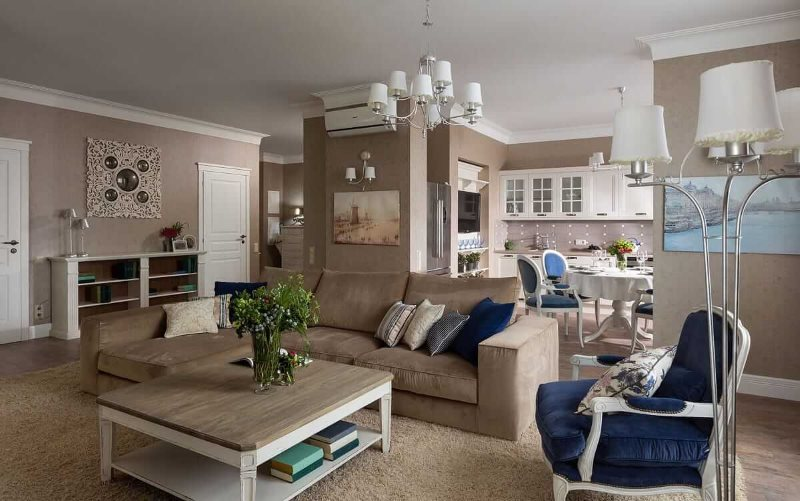 Интерьер квартиры студии в стиле прованса