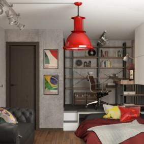 квартира студия в стиле лофт идеи декор