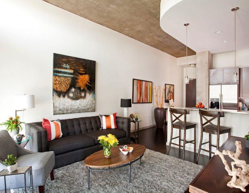 Интерьер квартир-студии в панельном доме