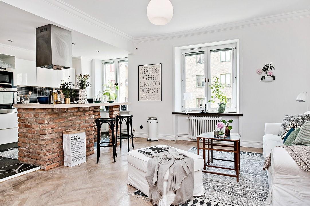 квартира в скандинавском стиле дизайн фото