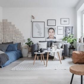 квартира в скандинавском стиле интерьер фото