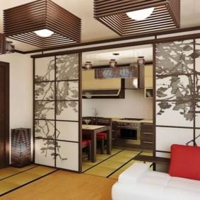квартира в японском стиле дизайн фото