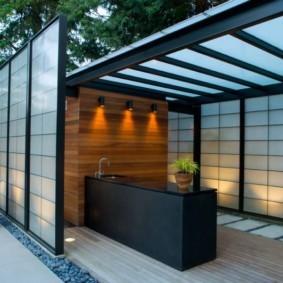 Летняя кухня в современном стиле