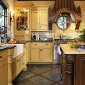 линолеум для кухни декор