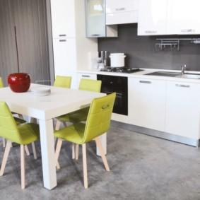 линолеум для кухни интерьер