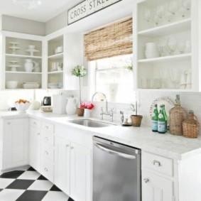 линолеум для кухни виды интерьера