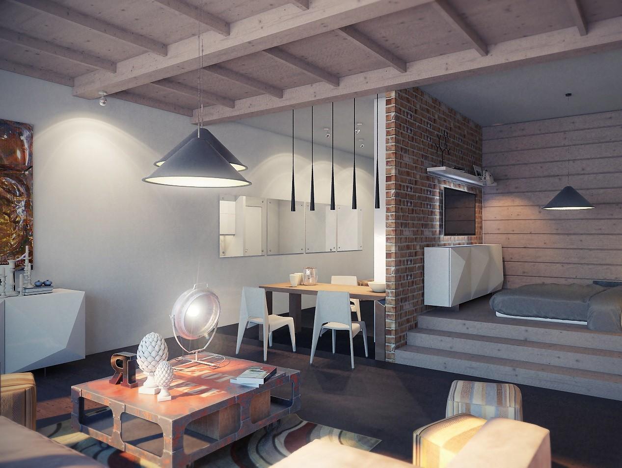 лофт в квартире потолок