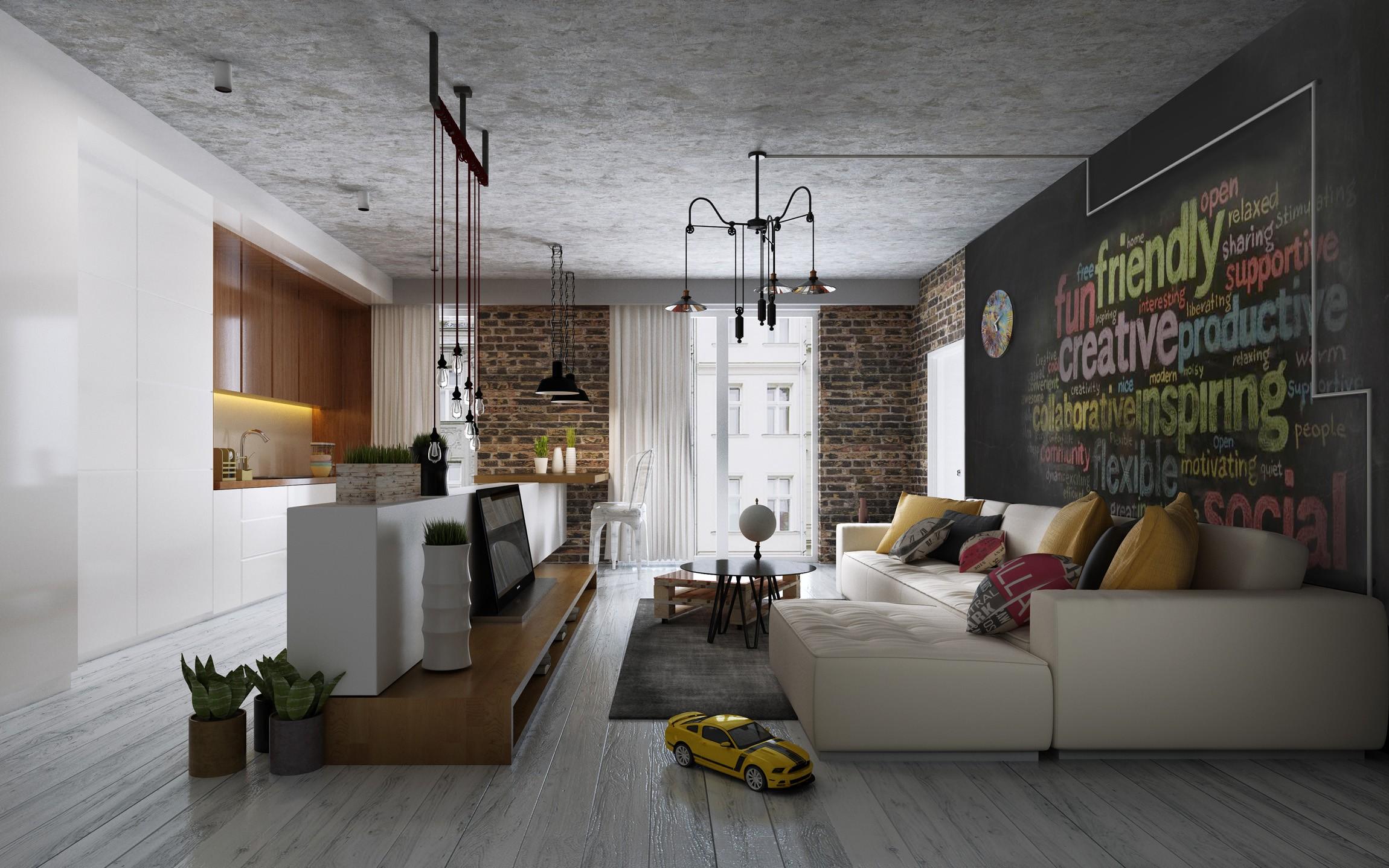 лофт в квартире дизайн фото