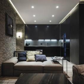 лофт в маленькой квартире дизайн