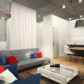 лофт в маленькой квартире дизайн идеи
