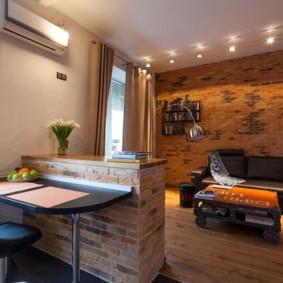 лофт в маленькой квартире дизайн интерьера